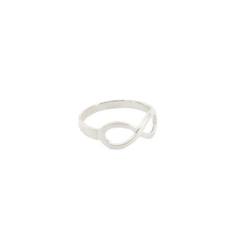 comprar anillo infinito plateado