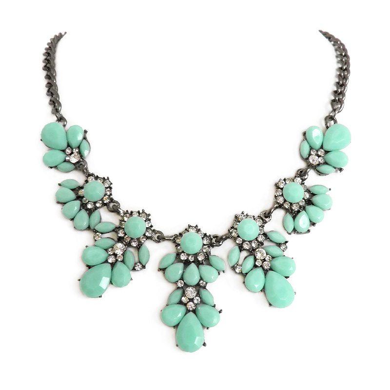 Collar de piedras verde turquesa makedoonia - Piedras para collares ...