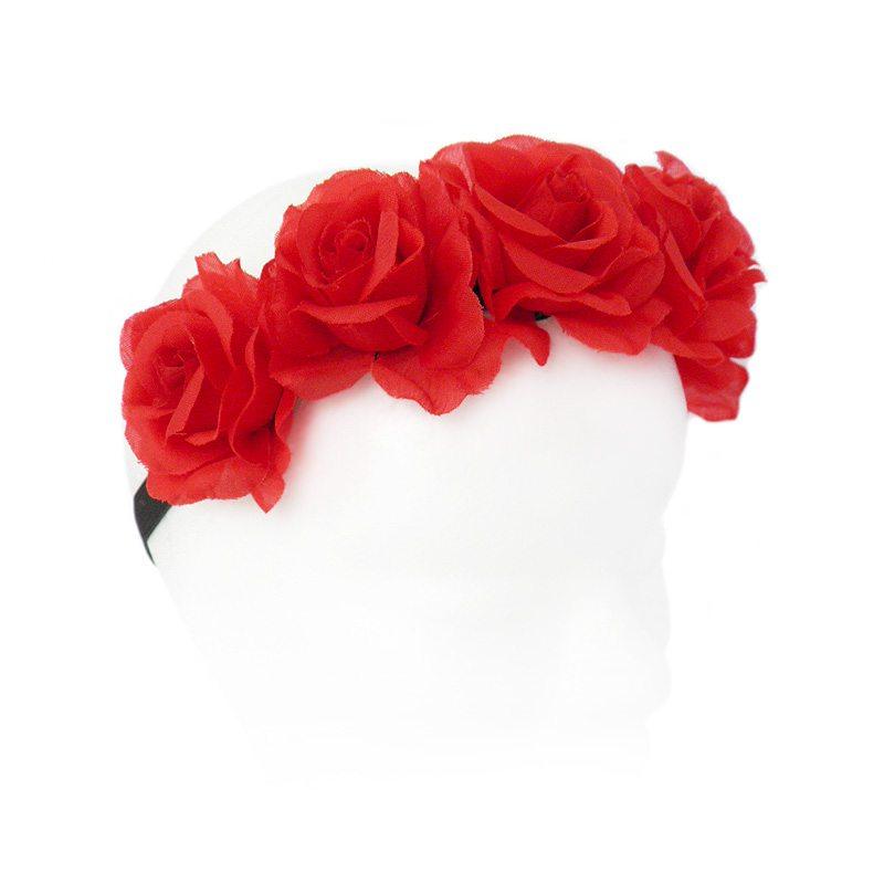 Diadema rosas rojas makedoonia - Diademas de flores para nina ...